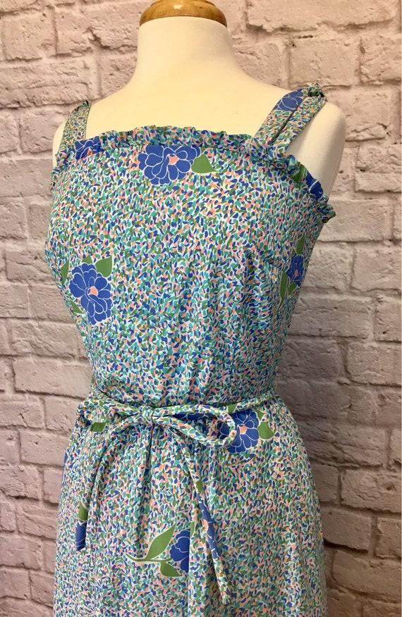 Vintage The Vested Gentress Floral Belted Dress