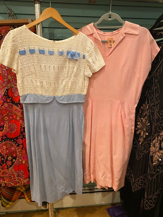 VINTAGE LOT of 1950s 1960s Dresses Bulk Vintage Lo