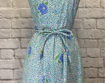 Vintage The Vested Gentress Floral Belted Dress