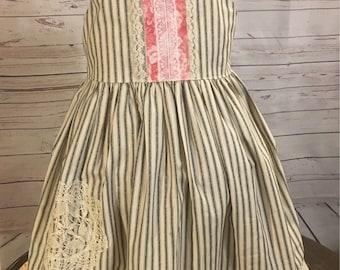 Vintage Style Girls Dress