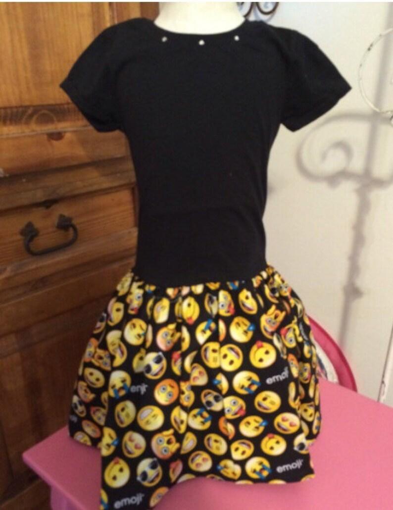 Girls Black Emoji Dress