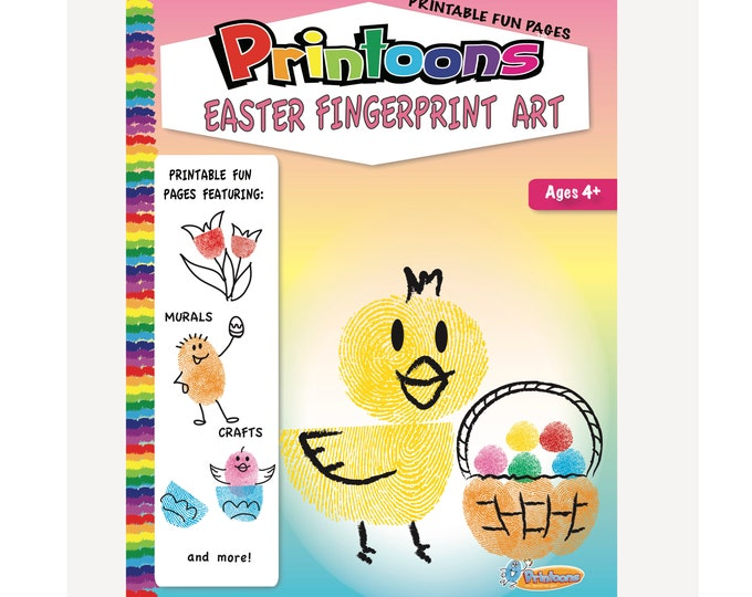 EASTER GREETING CARDS Fingerprint Art, Easter Craft for family,