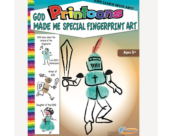 GOD MADE Me SPECIAL Fingerprint Art,  God Loves Me, Daughter of the King, Armor of God, Sunday school Worksheets, Youth Group Worksheets