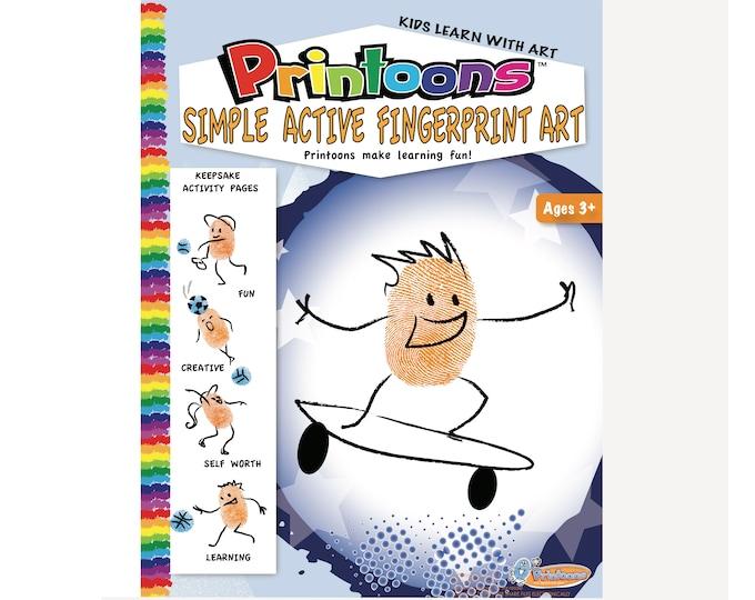 SPORTS THUMBPRINT CRAFTS, Sports Digital Download Fingerprint Art Kit, Sports Crafts, Sports Diy Kit, Sports Worksheets,Preschool Sports Fun
