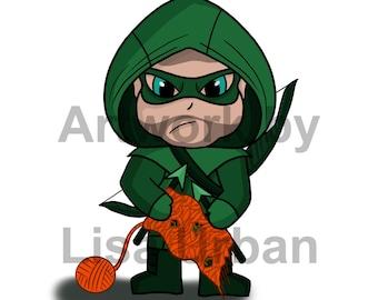Even |Green Arrow Knits - 5x7 print