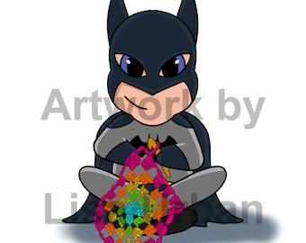 Even Batman Crochets - 5x7 print