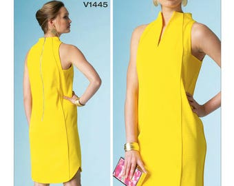 Vogue V1445 Sewing Pattern for Shift Dress by Pamella Roland Size 6-8-10-12-14 UNCUT
