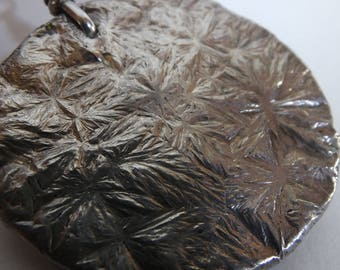 Northern Thailand/Burma Silver Money Flower Pendant