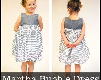 Martha Bubble Dress PDF sewing pattern