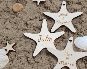 "2"" Starfish Wedding Favors, Wooden Tags, Beach Wedding Favors, Beach Favor, Starfish, Wedding Favors, Beach Wedding, Decor, Party, Shower"