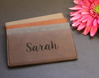 Personalized Faux Leather Checkbook Cover, Vegan, Checkbook Wallet, Check Book Pocket, Engraved Checkbook Cover, Check Book Cover
