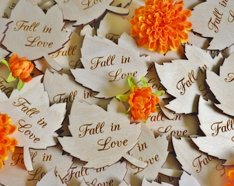 Autumn wedding favor etsy 100 personalized leaves fall wedding favors wood leaves wedding favors personalized favors fall wedding autumn wedding favors 3 inch junglespirit Gallery