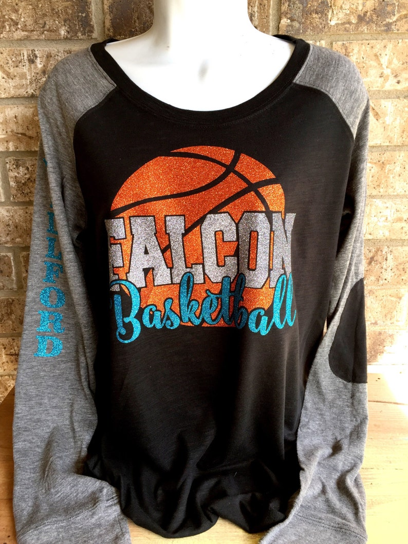 91fc694cef8d77 Customized Glitter Basketball Shirt basketball mom shirt