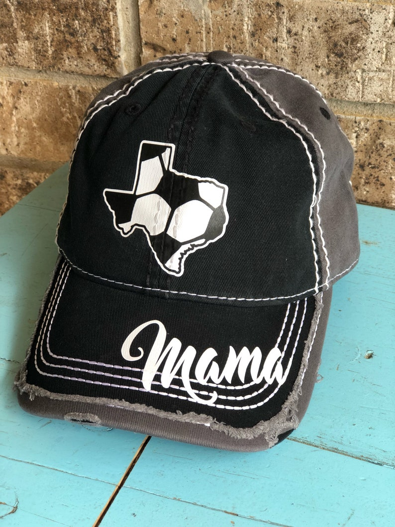 034beafe450 Customized TEXAS Soccer MOM Cap choose your colors Fun