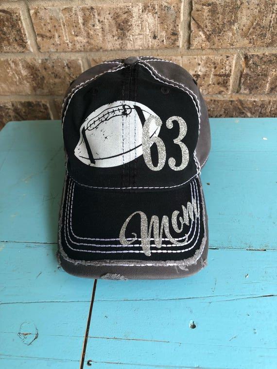 cfd9aebc8ae Customized Football Mom Cap Fun Football Baseball Cap