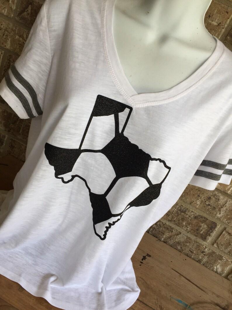 42ea5c0cbf004c V Neck GLITTER Texas soccer ball T-Shirt soccer mom shirt