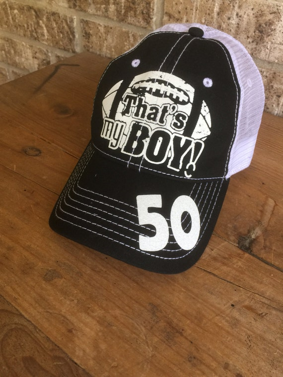 84d705ac12a Customized Football Mom Trucker Cap That s My Boy Fun