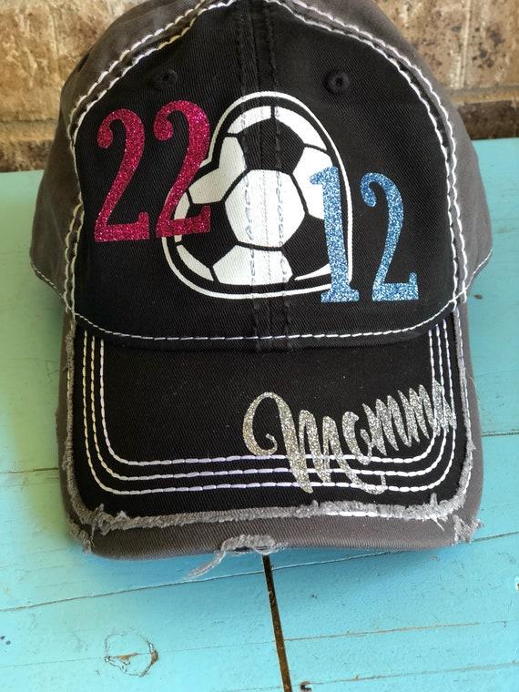 8cdad1d2bd6 Customized Soccer Mom Cap Fun Soccer Baseball Cap with 2