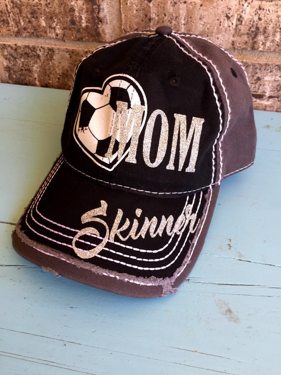 e5bfb207fdc Customized SOCCER MOM Cap Choose your colors Fun basketball