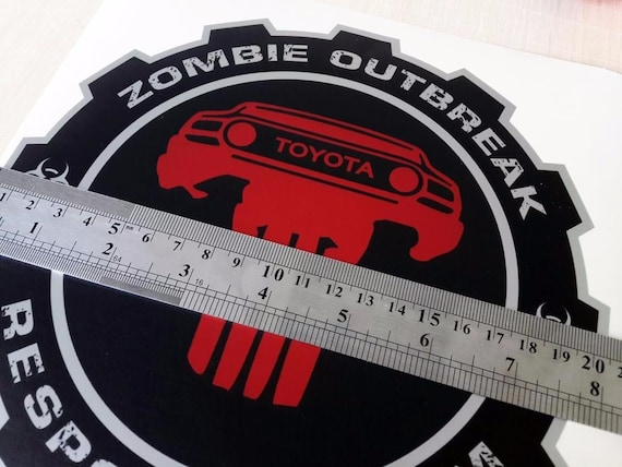 Zombie Outbreak Response Team Punisher vinyl decals stickers fits to FJ cruiser