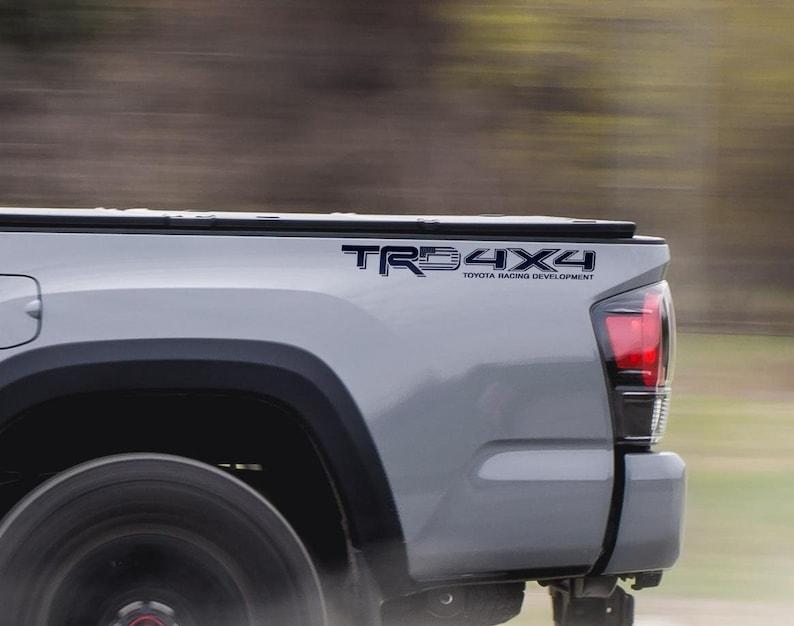 Toyota TRD sport Racing Tacoma Tundra 2 Flag US Decal Vinyl Pair Sticker Truck