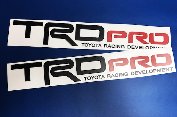 TRD LOGO VINYL DECAL Toyota Race Car Truck Track Custom Vehicle Sticker Label