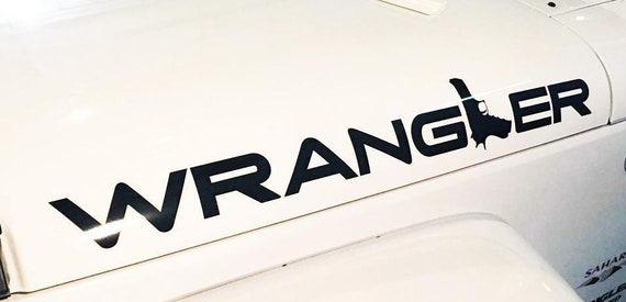 Wrangler GUN graphic Decal Sticker fits to Wrangler unlimited JK