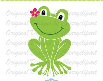 Frog Monogram Svg Bundle  Frogs Collection  Frog Silhouette  Cutting File  Animals  Cricut  Silhouette  Printables  SVG PNG DXF Pdf