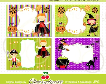 Halloween Themed Invitation Templates Personal And Commercial Use Birthday Party Invitationsthank You Cardsrsvp Cards