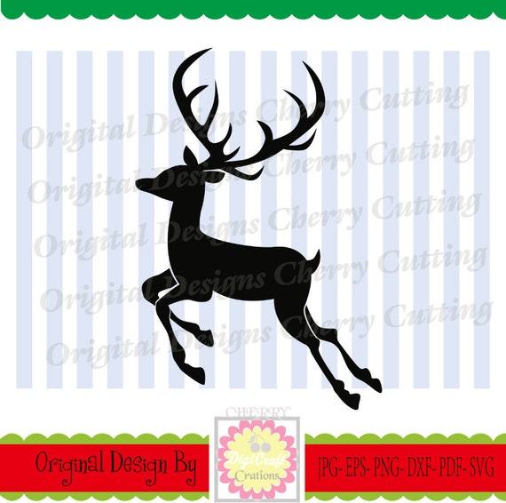 Reno De Svg Reno De Navidad Silueta De Ciervo Navidad Etsy - Ciervo-navidad