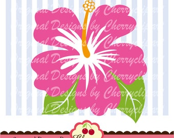 Hibiscus flower SVG Dxf ,Flower SVG Summer flower svg Silhouette & Cricut Cut Files SUM06 -Personal and Commercial Use