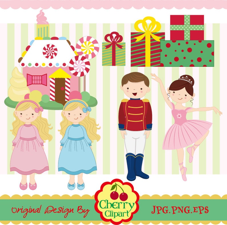 Nutcracker Ballet digital clipart set Christmas digital clipart Personal and Commercial Use
