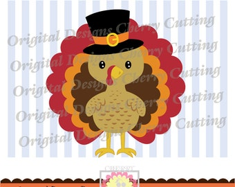 Thanksgiving pilgrim turkey SVG,Thanksgiving turkey SVG,Thanksgiving Silhouette & Cricut Cut Files DGCUTTH12 -Personal and Commercial Use