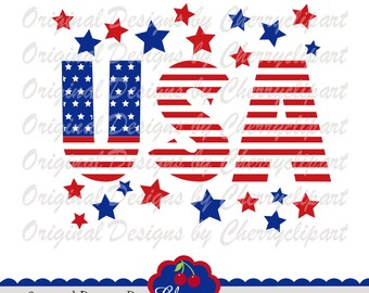 USA Svg Dxf, 4th of July USA Svg Dxf,Independence Day SVG Silhouette & Cricut Cut Files JULY16 -Personal and Commercial Use