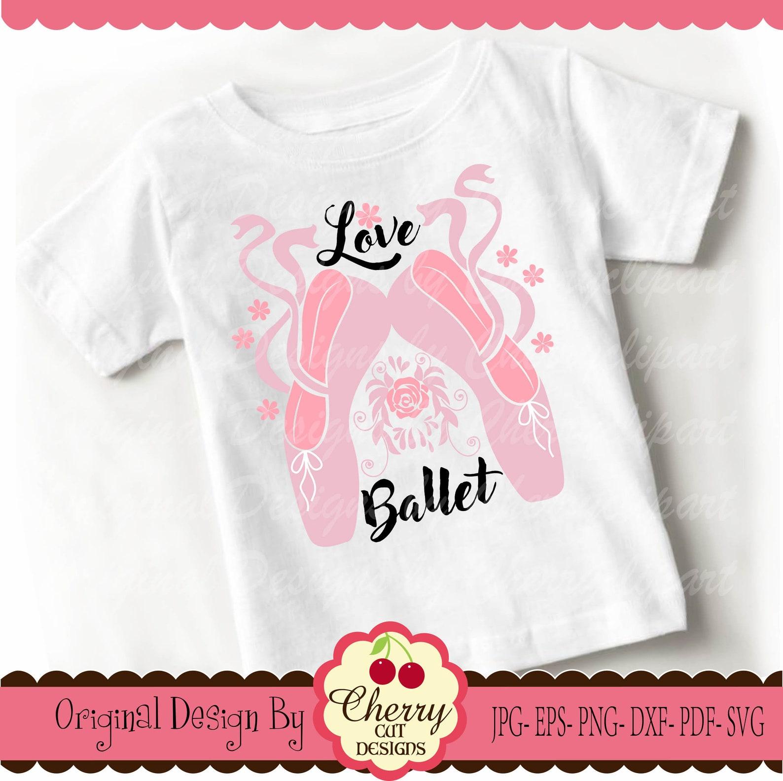 ballet shoes svg dxf ,love ballet svg silhouette cut files, cricut cut files bysvg3