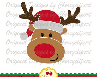 Christmas Reindeer Boy SVG DXF Christmas Silhouette & Cricut Cut Files CHSVG28  -Personal and Commercial Use