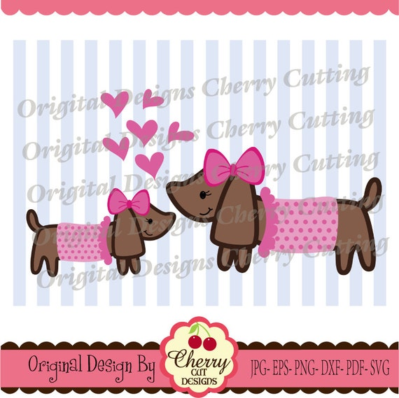 Svg Dxf Puppy Puppies With Hearts Svg Silhouette Cricut Cut Etsy