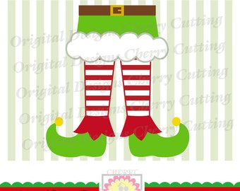 Elf shoes, Christmas Elf legs SVG DXF, Elf feet Silhouette Cut Files, Cricut Cut Files CHSVG25 -Personal and Commercial Use