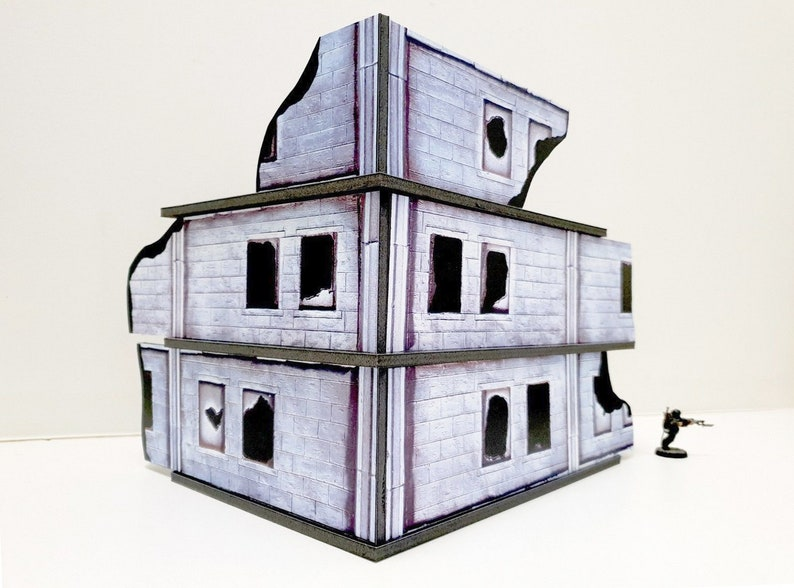 Urban Ruins Set 2 - Print and Play Terrain - for Warhammer 40k, Necromunda,  Infinity, Warmachine, scifi wargames, Post Apocalyptic, more!