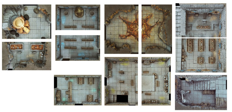 Compilation Rooms Pack Expansion 2  Print and Play Dungeon  image 0