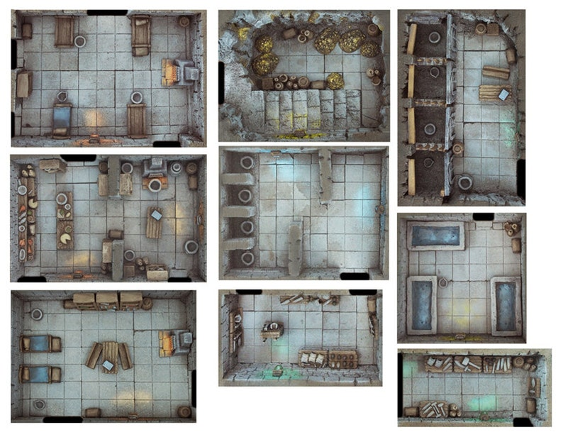 Compilation Rooms Pack Expansion 1  Print and Play Dungeon  image 0