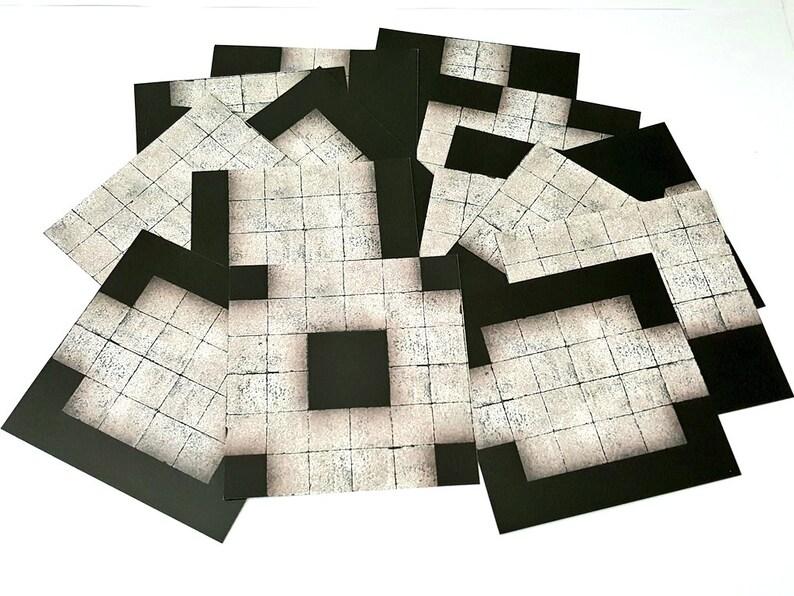 6x6 MODULAR DUNGEON Flip Tiles Core Set  RPG Maps image 0