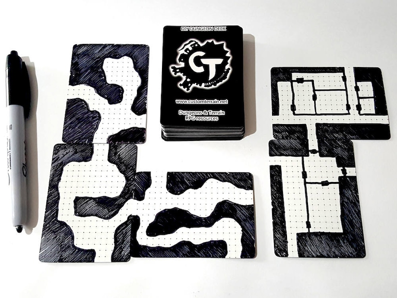 DIY Dungeon Deck Plaingrids  Draw Your Own Maps for Dungeons image 0