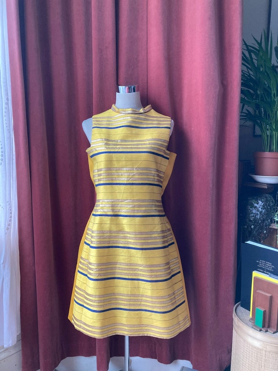 Collectable Mad Men designer 60s yellow striped sh