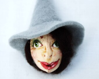Dorothy Witch Art Doll Brooch