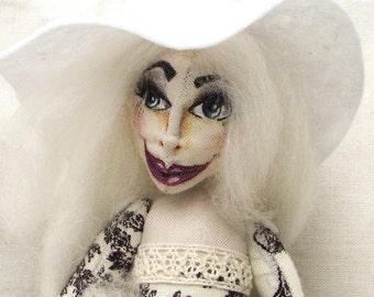 Cloth Art Doll Wanda The Winter Witch