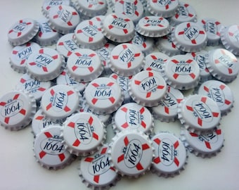 25 unused beer bottle crown caps for creativity and crafts red