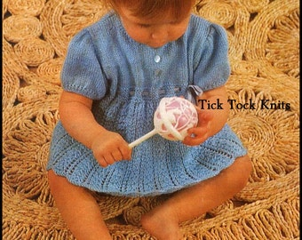 Chest Size 41-61 cm 3 Styles Knitting Pattern DK Babies Cable Cardigans 222