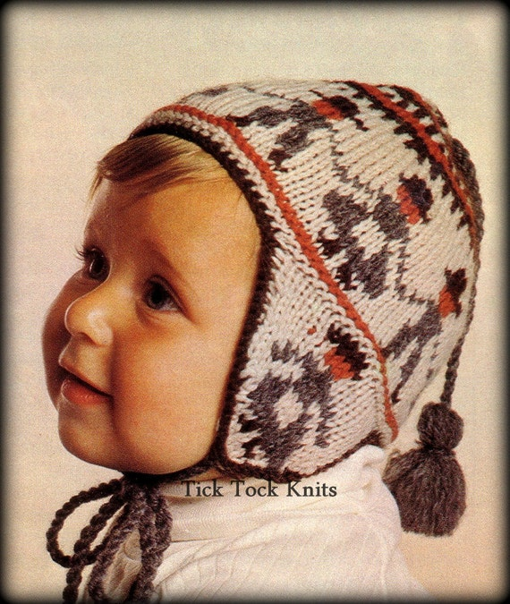 No351 Baby Hat Knitting Pattern Pdf Vintage Peruvian Etsy