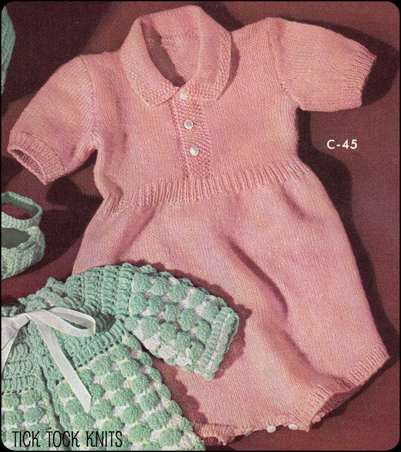 9c9a85e98 No.200 Baby Knitting Pattern PDF Vintage Baby s Polo